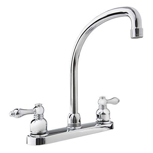 - Dura Faucet (DF-NMK330-CP) Hi-Arc RV Kitchen Faucet - Chome Polished Replacement Faucet for Travel Trailers, RVs, 5th Wheels