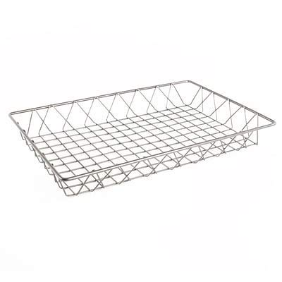 FFR Merchandising Wire Display Baskets and Trays; Smooth Gray, 12 W x 18 L x 2 H, (9922810918) - 2/Pack (7 Pack)
