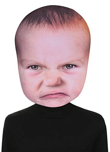 Angry Baby Face Costumes - Costume Mask Baby Angry Face -Scary