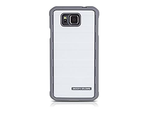 Body Glove Rise Series Case with Metallic Finish for Samsung Galaxy Alpha - Retail Packaging - White / (Body Glove Suit Up Phone Cases)