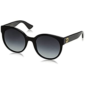 Gucci 0035S 001 Black 0035S Round Sunglasses Lens Category 3 Size 54mm
