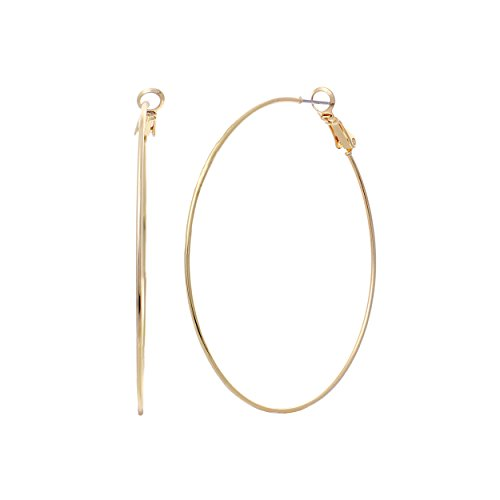 Rosemarie Collections Hypoallergenic Thin Hoop Earrings 60mm - Loop Macys