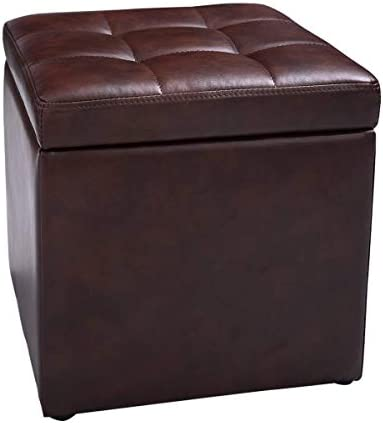 hello world1 New Cube Ottoman Pouffe Storage Box Lounge Seat Footstool