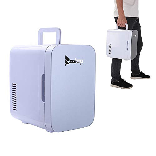 Mini Refrigerator,Mini Portable Compact Personal Fridge Cools & Heats 6Liter Capacity, 0.21 Cuft / 8 Can, 100% Freon-Free & Eco Friendly for Car, Outdoor, Office, Dorm, Apartment(Gray) ()