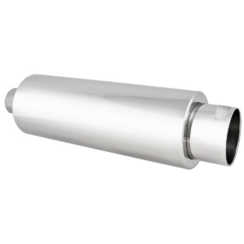 DC Sport EX-5017 Stainless Steel Round Muffler and Exhaust Tip
