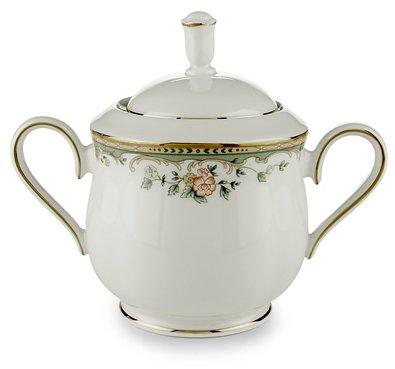 Lenox Spring Vista Gold Banded Ivory China Sugar Bowl