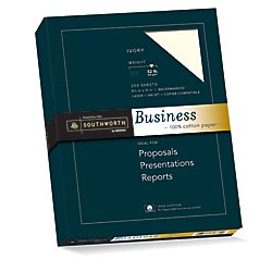 """Laser Sheet Stationery - Southworth 100% Cotton Business Paper, 8.5"""" x 11"""