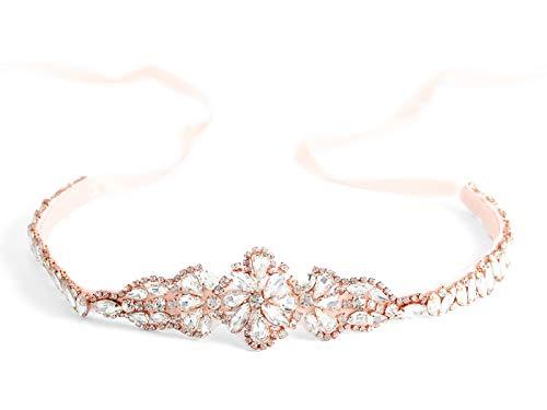Brishow Wedding Belt Rhinestone Crystal Bridal Sash Pearl Thin Appliques Bride Dress Belts Accessories