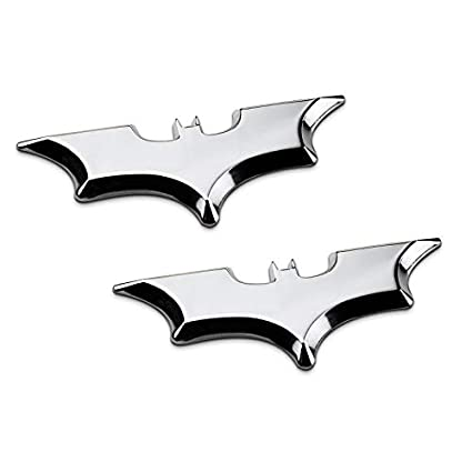 2xSilver 2X Metal Black//Silver//Gold Bat Batman Shadow Symbol Emblem Sticker Badges for Auto Car Trunk Tailgate Bumper Window Fender Interior Exterior Decoration