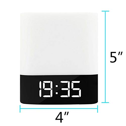 Weite 5-in-1 Wireless Bluetooth V4.0 Portable HiFi Speaker with Dimmable Smart Touch Control Color Changing Night Light, Digital Alarm Clock, MP3 Music Player, Hands Free Call (White) by Weite (Image #5)