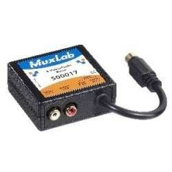 Muxlab 500017 Stereo S-Video Balun for Cat. 5 Cable by Muxlab (Image #1)