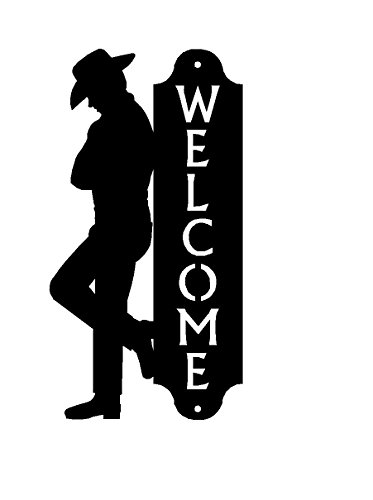 The Metal Peddler US Made Cowboy Welcome Sign 12 - Silhouette Metal Horse