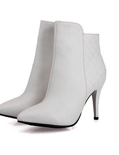 5 Semicuero Botas Oficina us10 Tacón us8 5 Trabajo A Xzz Uk8 Zapatos Mujer Puntiagudos Cn43 La Moda Black Eu42 Eu39 Stiletto 5 Uk6 Vestido U De Negro 5 White Cn40 Blanco Y wqxv6YA