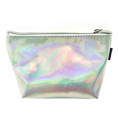 Handbag Pouch Silver Zipper Kalttoy Makeup Holographic Pencil Bag Hologram Laser Storage wv6FqY