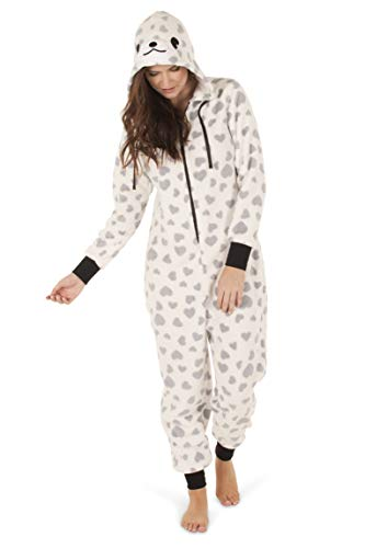 Totally Pink Women's Plush Warm and Cozy Character Adult Onesie/Pajamas/Onesie (Medium, ()