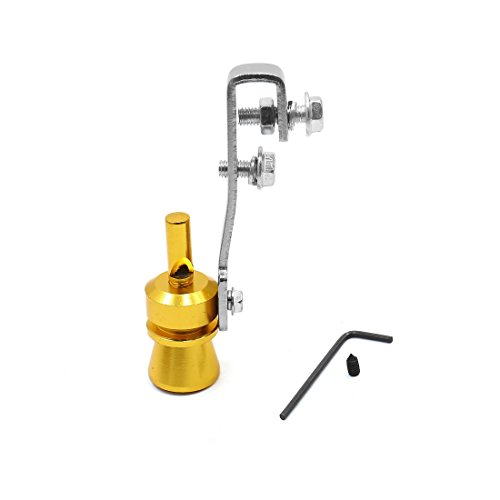 uxcell Auto Car Gold Tone Turbo Sound Whistle Exhaust Muffler Simulator Whistler S