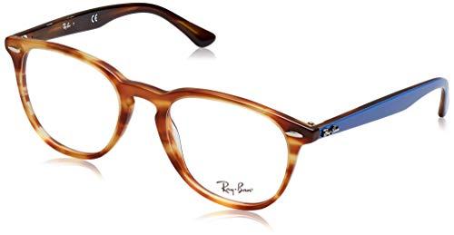 Ray-Ban Unisex RX7159 Eyeglasses Light Brown Havana 52mm