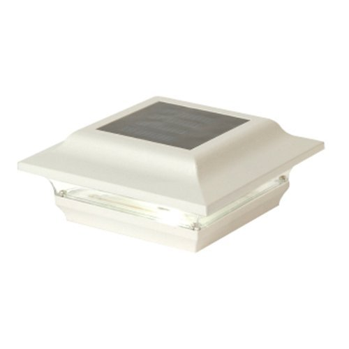 White Aluminum Imperial Solar Post Cap - Size 4x4'' by Mr. Light