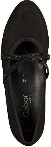 86 47 para mujer 47 negro Zapatos 47 vestir Gabor 142 de SdwqS4R