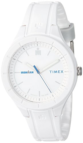 Timex TW5M17400 Ironman Essential Urban Analog 38mm White/Blue Silicone Strap ()