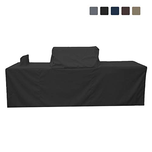 COVERS & ALL Outdoor Kitchen Cover 12 Oz Waterproof - Customize Your Kitchen Cover with Any Dimensions - 100% UV & Weather Resistant Outdoor Kitchen Island Cover (Black)
