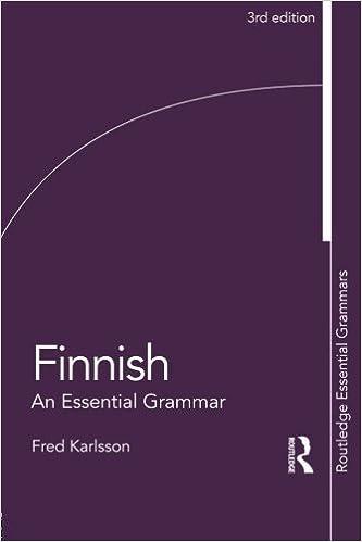 Finnish: An Essential Grammar (Routledge Essential Grammars) by Fred Karlsson (2015-05-09)