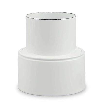 Ofenrohr Reduzierung /Ø 130 mm  /Ø 100 mm emailliert Wei/ß