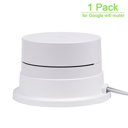 Price comparison product image WMTGUBU Google Wifi Wall Mount Stand Holder Ceiling Bracet for Google Wifi Router System(1 Pack,White)