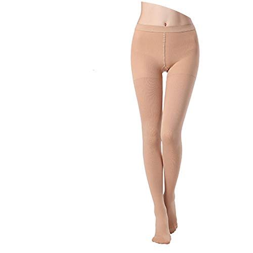 34-46mmHg Medical Compression Pantyhose Women Varicose Veins Compression Tenths Pants Stockings,Beige Closed Toe 3L,XL