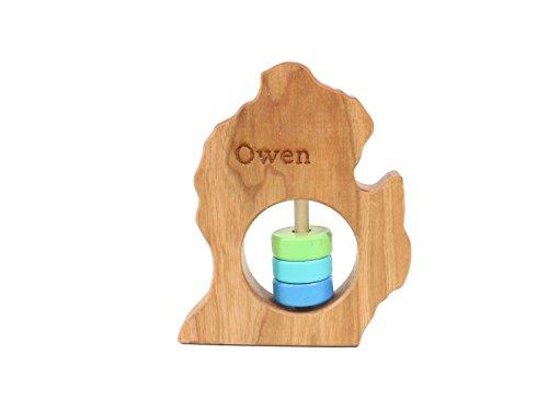 michigan-lower-peninsula-state-wooden-baby-rattle-tm