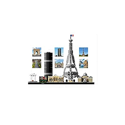 LEGO Architecture Skyline Collection 21044 Paris Skyline Building Kit With Eiffel Tower Model and other Paris City Architecture for build and display (649 Pieces): Toys & Games