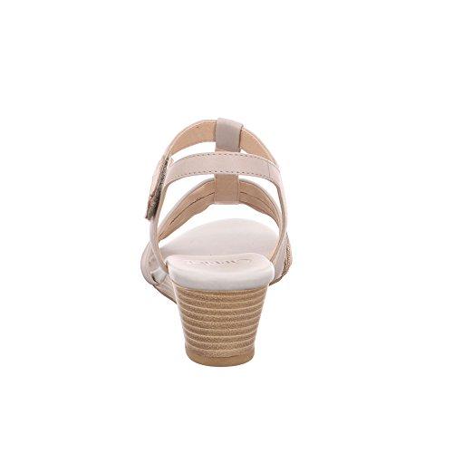 Caprice Damen Sandalette Aus Glattleder/Synthetik in Grau light grey multi
