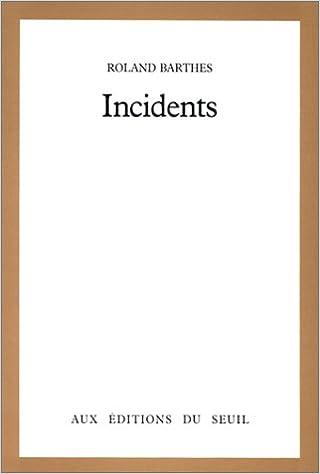 Livre gratuits en ligne Incidents pdf epub