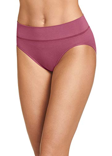 - Jockey Women's Underwear Natural Beauty Seamfree Hi Cut, Bluster, 8