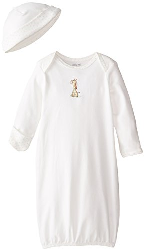 Little Me Baby Boys' Giraffe Gown and Hat, Ivory/Multi, 0-3 Months]()