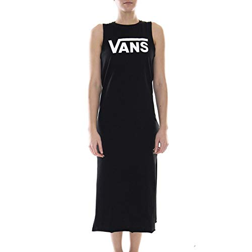 Flying Midi V Negro Vans medium M Vestido UAOwEx8