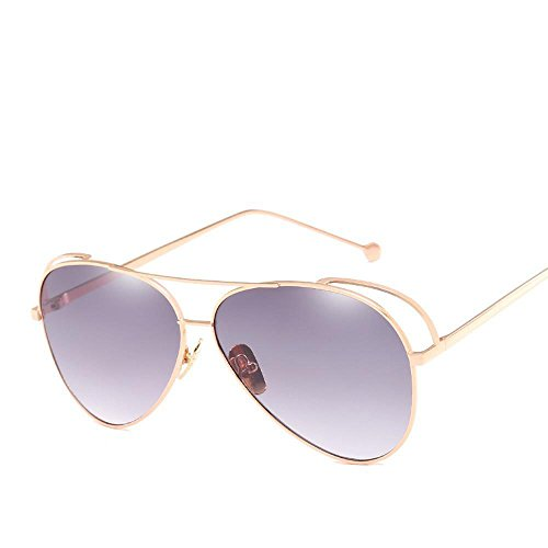 Fashion Fashion Sunglasses Personnalité Film Couleur , Marron / or