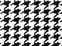 Houndstooth Gift - Houndstooth Black and White Tissue Paper 20 Inch x 30 Inch - 24 X-Large Sheets