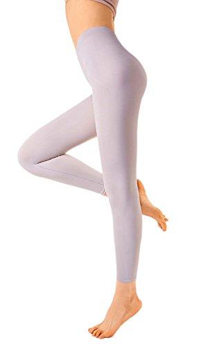 Ropa de Forma Pantalones Yoga y Polainas Para Bailar para Mujeres de MD Moldeador de Cuerpo Panza Muslos y Caderas Marron Claro