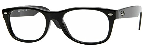 Ray-Ban RX5184 Eyeglasses (50 mm, Shiny Black)