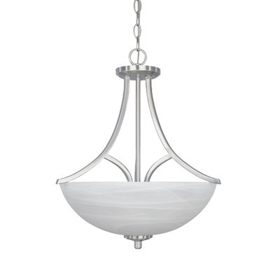 Designers Fountain 82931-SP Tackwood Inverted Pendant, Satin Platinum