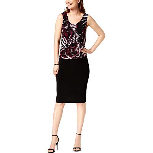 - Connected Apparel Womens Chiffon Flyaway Wear to Work Dress Black 12