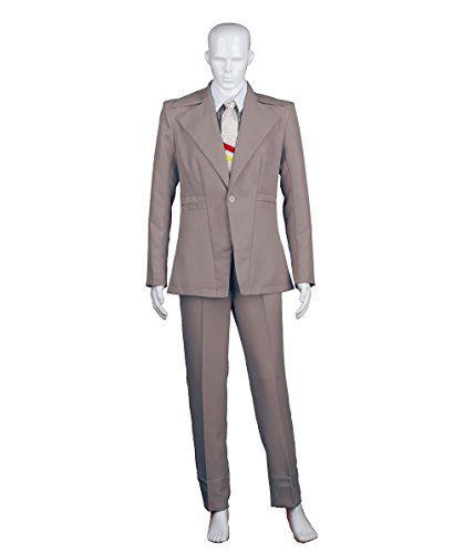 Men's Deluxe Costume for Cosplay Singer Bowie Party Suit ()