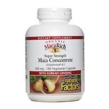 (Natural Factors - MacaRich Super Strength Power Maca, Antioxidant Support, 180 Vegetarian Capsules)