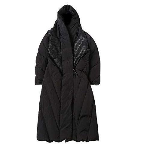 Coreano Giacca Lunga Dell'inverno Nera Cappotto Casuale Della Nero Corposa Tuta Nuova Huaishu Sportiva 5xqFT1wx0