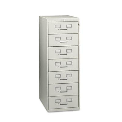 Tennsco Seven-Drawer Multimedia/Card File Cabinet- TNNCF758LGY by Tennsco