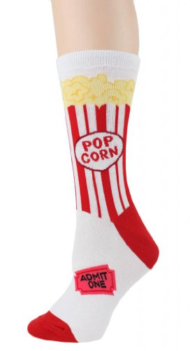 Foot Traffic - Food Women's Socks, Popcorn 9 - 11 WOMENS SIZE: 4-10 for $<!--$9.00-->