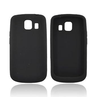 BLACK For LG Vortex Silicone Case Rubber Cover