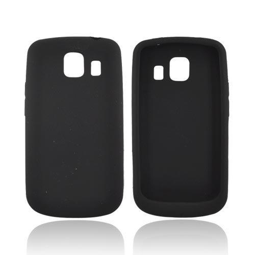 (BLACK For LG Vortex Silicone Case Rubber Cover)