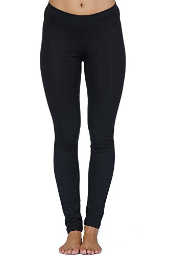 In Touch Beyond Clean Karma Women's Organic Cotton Balanced Lean Ankle Legging By In Touch (medium, black)